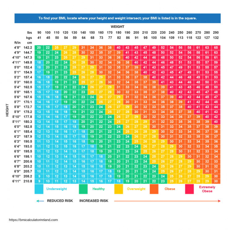 Body Mass Index Chart